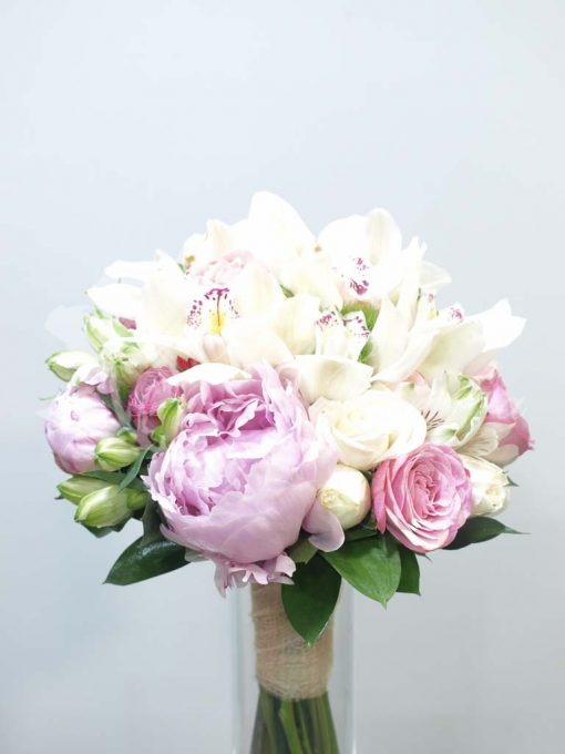 Bouquet peonias y orquideas 3