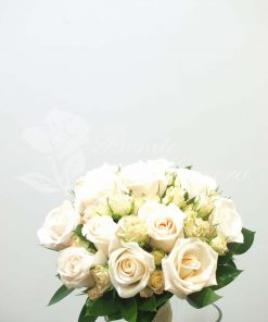 Bouquet novia rosa champany 5