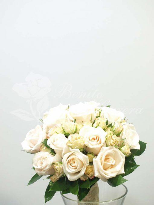Bouquet novia rosa champany 4