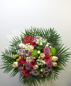 bouquet de flores multicolor