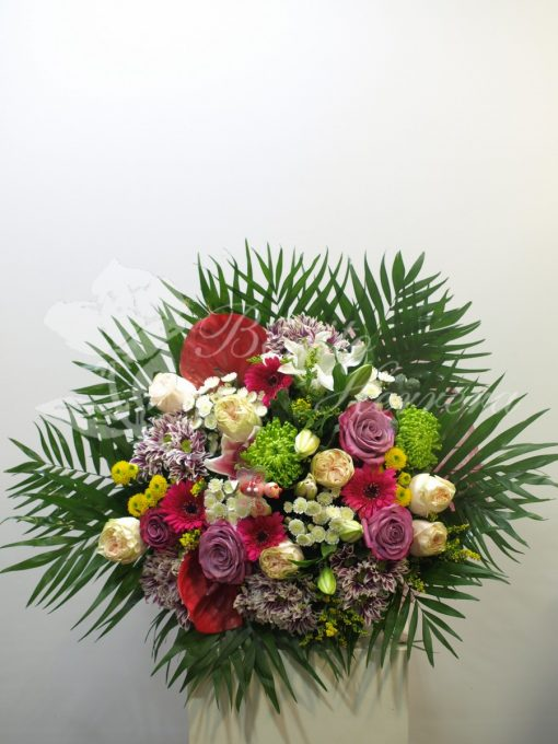bouquet de flores multicolor