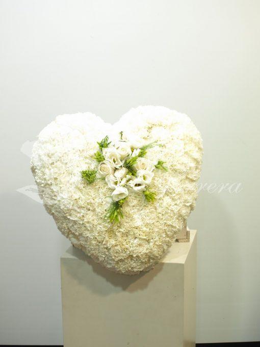 corazón funerario blanco 2
