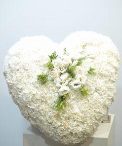 corazón funerario blanco 4