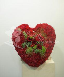 Corazón funerario rojo 5