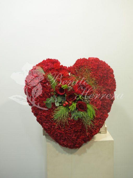 Corazón funerario rojo 4