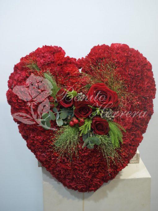 Corazón funerario rojo 3