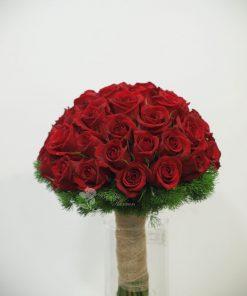 bouquet novia rosas rojas 5