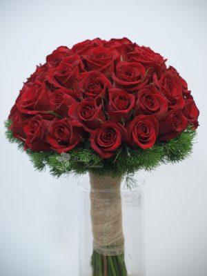 bouquet novia rosas rojas 6