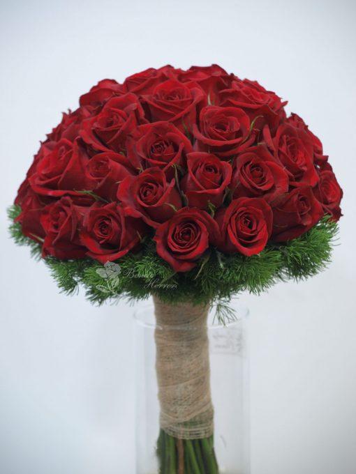 bouquet novia rosas rojas 3